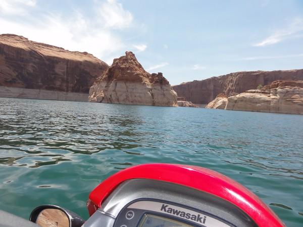 Jet ski sur le lac Powell