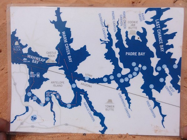 Carte du Lac Powell