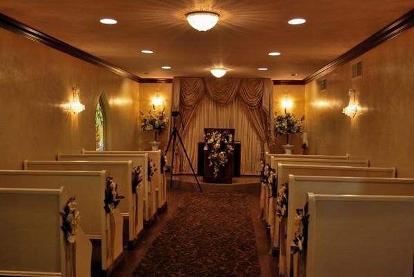 Intérieur Chapelle de Mariage à Las Vegas