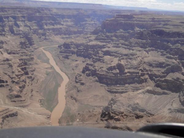 Colorado River vue d'hélicoptère