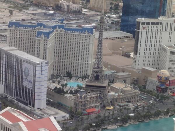 Las Vegas vue d'hélicoptère