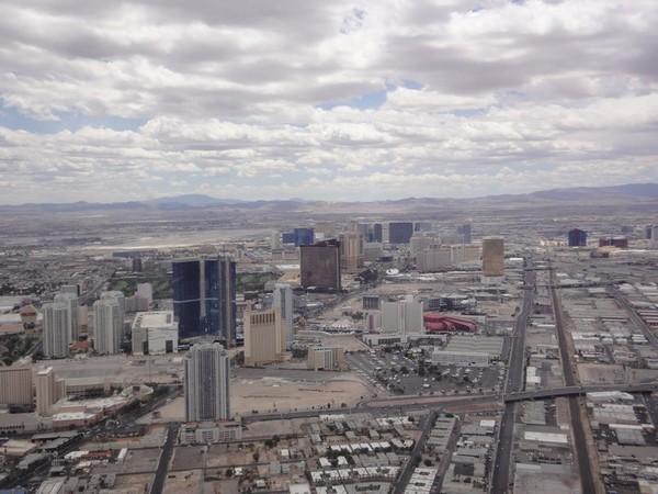 Las Vegas vu d'hélicoptère