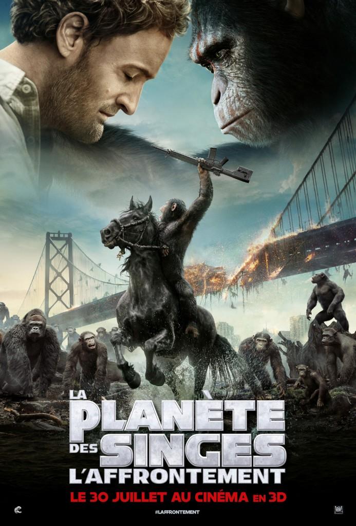 Affiche film La Planète des Singes l'affrontement