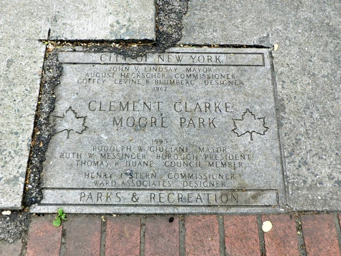 Clement Clarke Moore Park New York