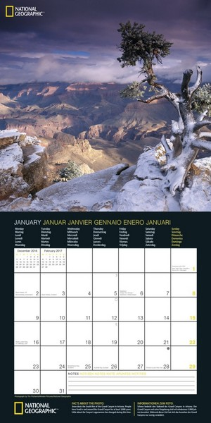 Calendrier 2017 National Geographic