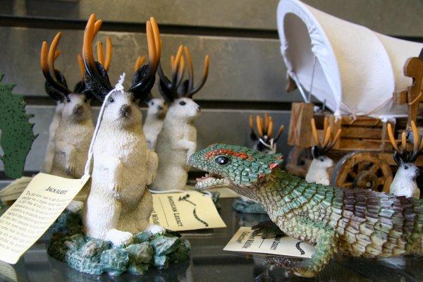 Jackalope figurines