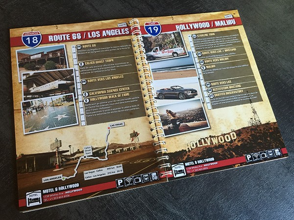 Road Book pour un road trip aux USA