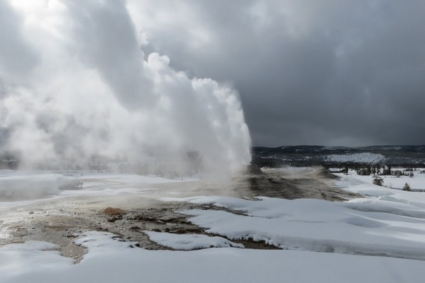 Parc National de Yellowstone en hiver