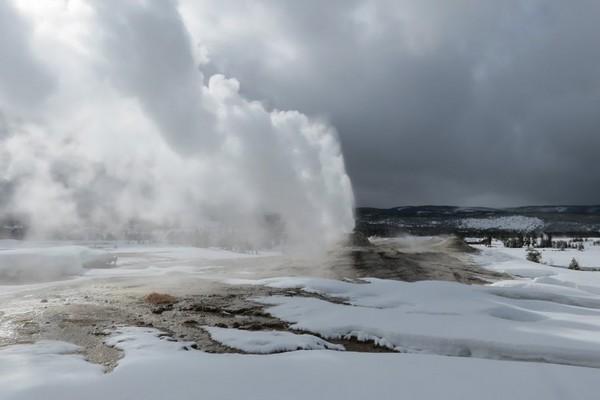 Parc National de Yellowstone en hiver