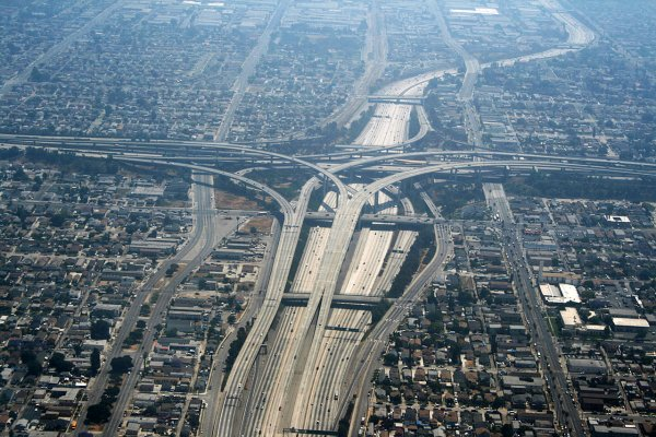 Los Angeles Échangeur de Interstate 110 et le l'Interstate 105