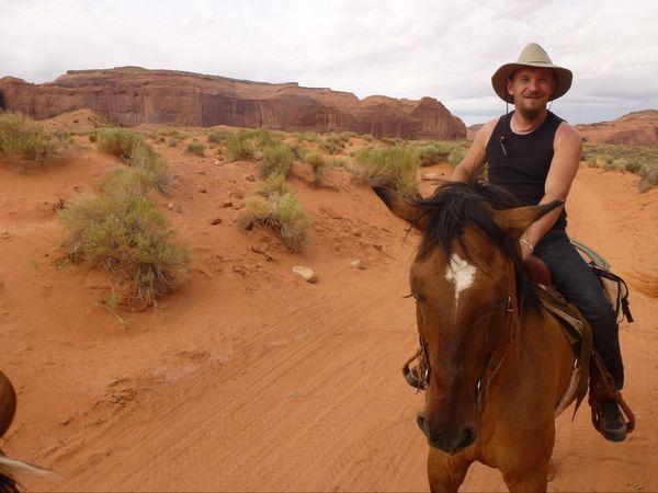 Ballade à cheval à Monument Valley