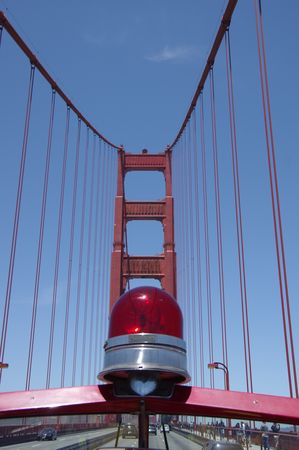 Traversée Golden Gate Bridge en camion de pompiers