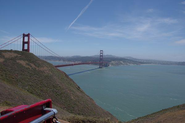 Vue sur le Golden Gate Bridge