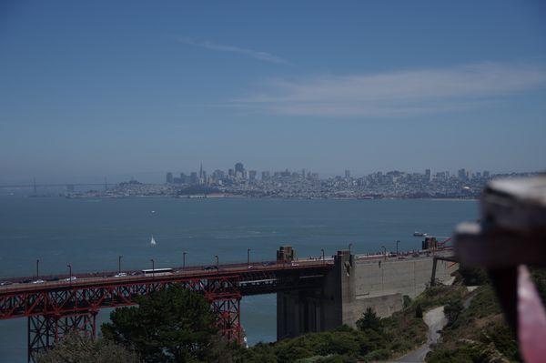 Vue sur la baie de San Francisco