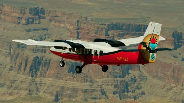 Survol du Grand Canyon en avion