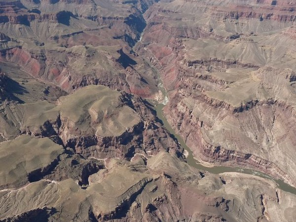Le Grand Canyon vu d'avion