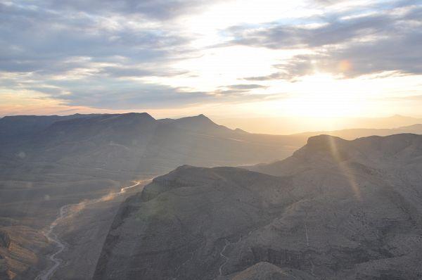 Survol Grand Canyon West au Sunset