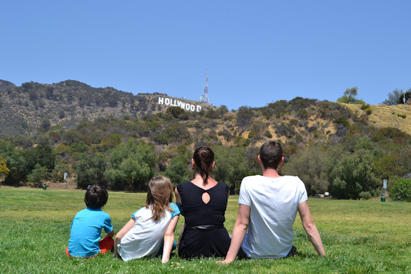 Hollywood Sign depuis Hollywood Lake Park