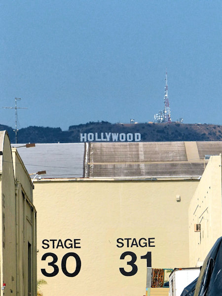 Hollywood Sign depuis les studios Paramount