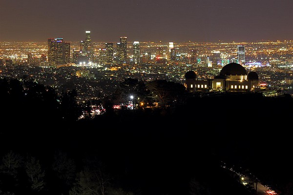 Griffith Park de nuit Los Angeles
