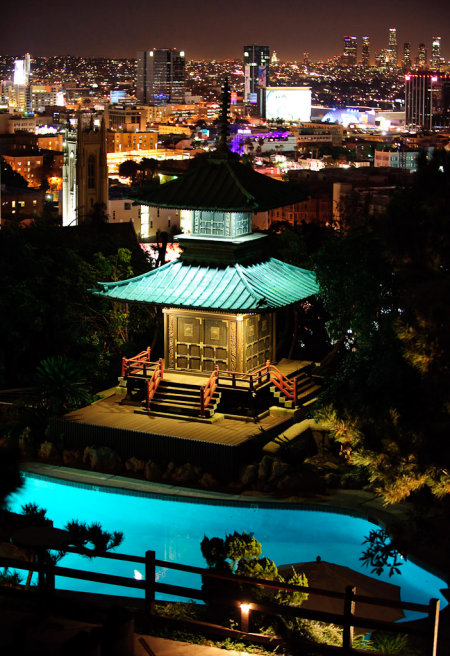 Pagode du restaurant Yamashiro Hollywood Los Angeles