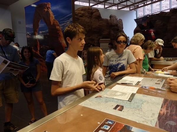 Programme Junior Rangers au Visitor Center