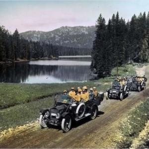 Premières voitures à Yellowstone
