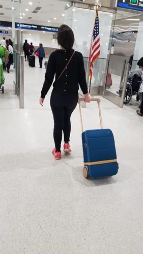 Valise Xtend à l'aéroport de Miami