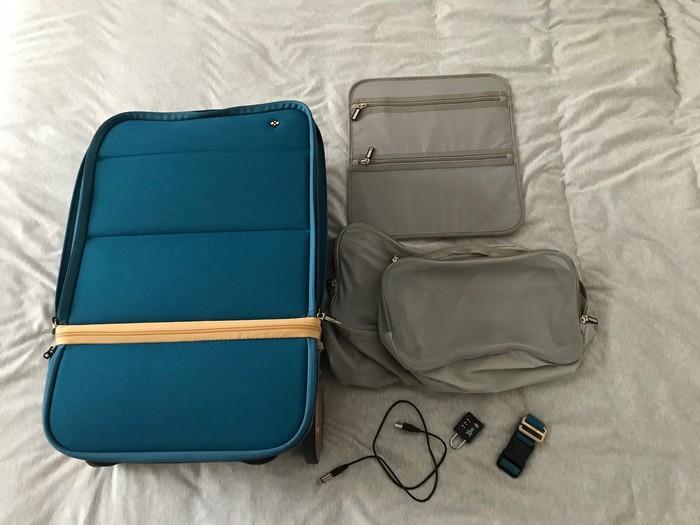 Valise Xtend avec ses accessoires