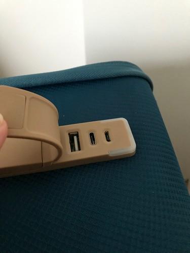 Valise Xtend, prises USB, USB-C et micro USB