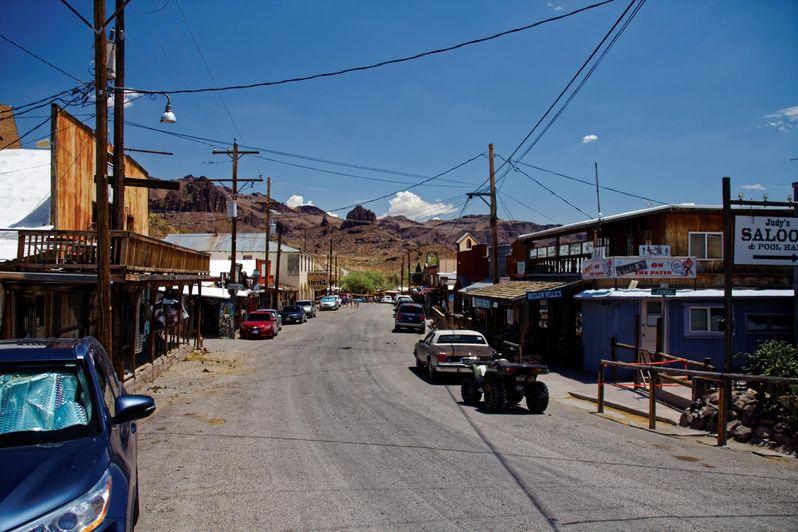 Visiter Oatman en Arizona sur la Route 66