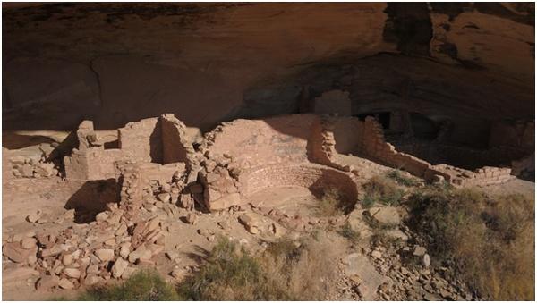 Butler Wash Ruins Utah vue depuis un drone
