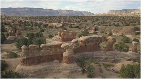 Paysages de l'Ouest américain vus d'un drone