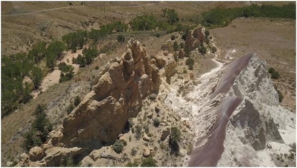 Paysages de l'Ouest américain filmés par un drone