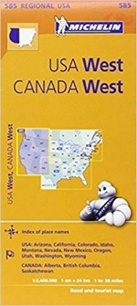 Carte Ouest USA