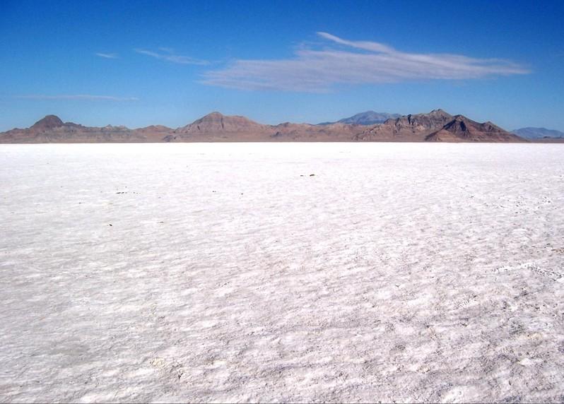 Bonneville Salt Flats Utah USA