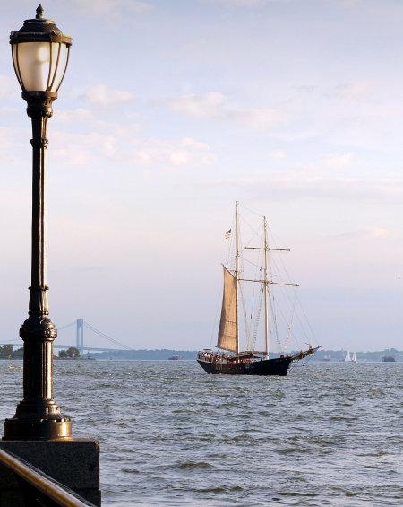 Voilier sur l'Hudson River