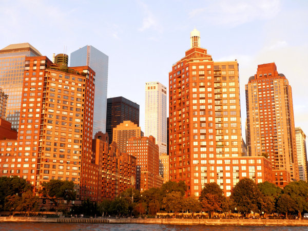 Manhattan au soleil couchant