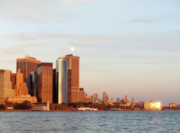 Manhattan au sunset depuis la goélette