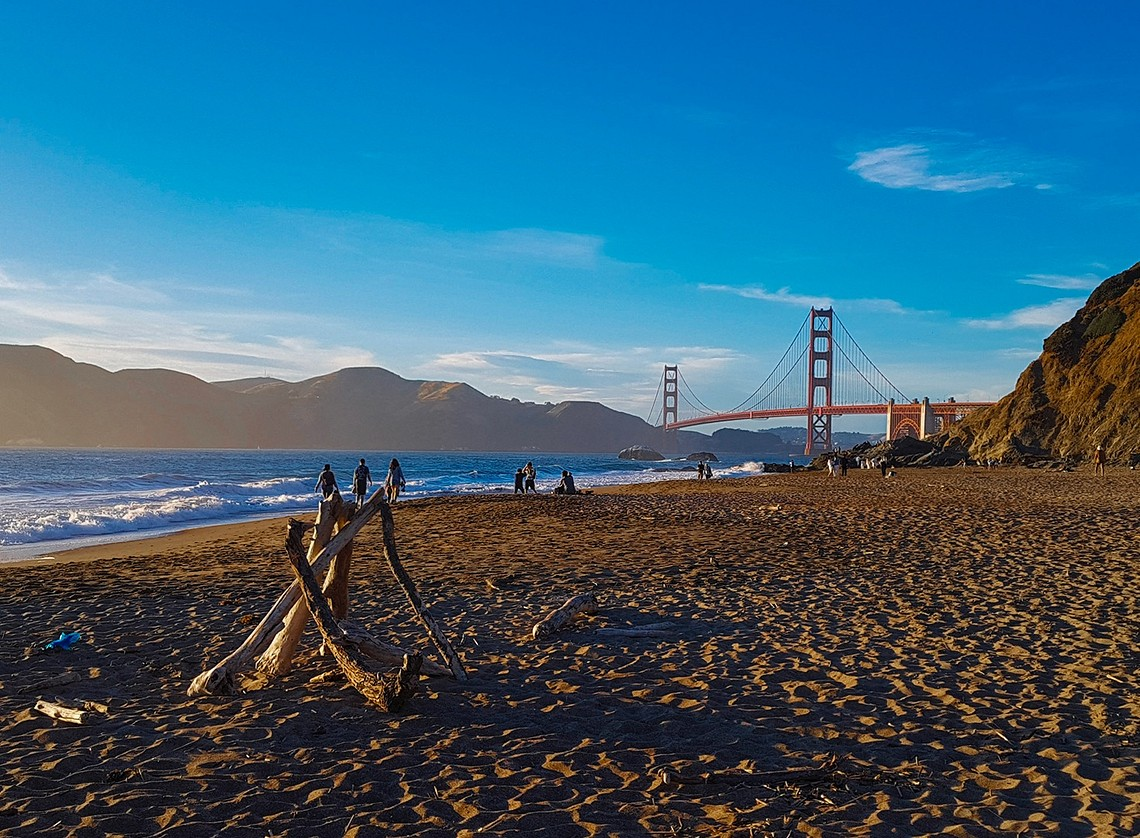Golden Gate Baker Beach San Francisco Californie