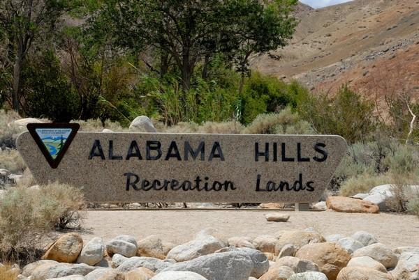 Panneau entrée Alabama Hills