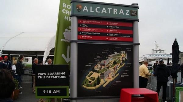 Pier 33 ponton embarquement pour Alcatraz