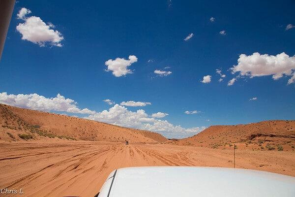 Sur la piste de Upper Antelope Canyon