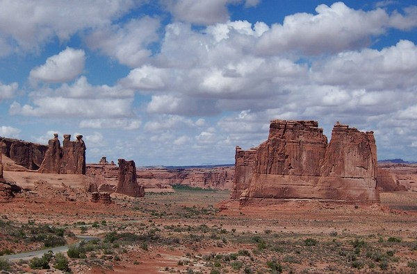Courthouse Towers Viewpoint Arches NP