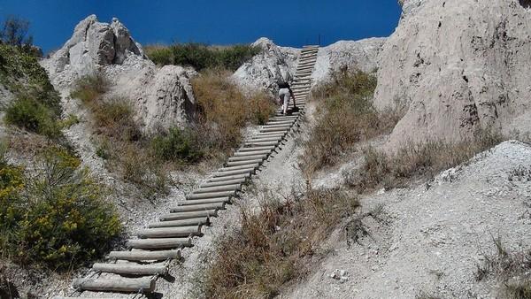 L'échelle de Notch Trail Badlands NP