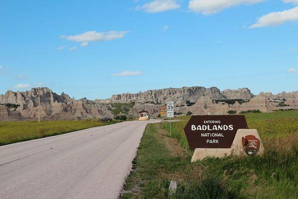 Entrée Sud Badlands National Park