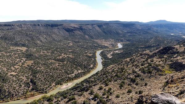 Rio Grande White Rock Overlook Bandelier National Monument