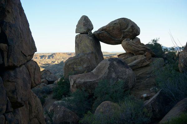 Balanced Rock Grapevine Hills Trail Big Bend