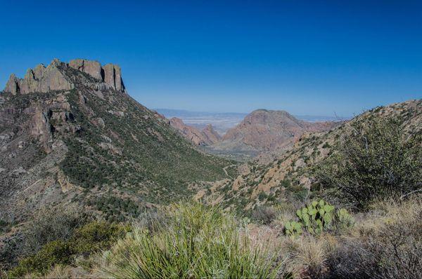 Superbe panorama sur Pine Canyon Big Bend