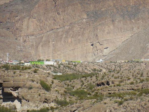 Village mexicain vu depuis Río Grande Village Nature Trail